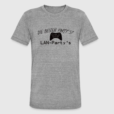 LAN party's for gamers - Unisex Tri-Blend T-Shirt by Bella & Canvas