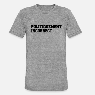 Incorrect political incorrect - Unisex Tri-Blend T-Shirt