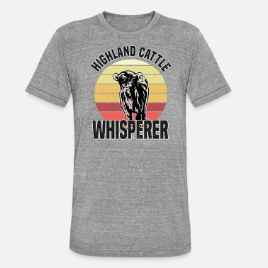 Highland Highland Cattle Whisperer Cows Cow Farmer Farmer - Unisex triblend T-skjorte