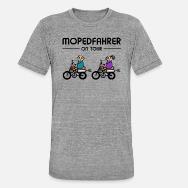 On Tour Mopedfahrer on Tour - Unisex T-Shirt meliert