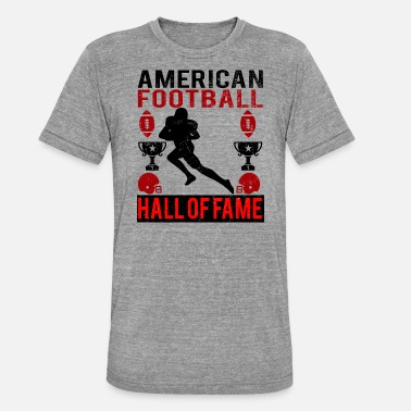 Hall Of Fame American Football Hall of Fame logo röd - Triblend T-shirt unisex