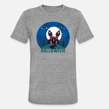 Haunted Halloween haunted house haunted house - Unisex Tri-Blend T-Shirt