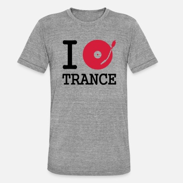 Vector I dj / play / listen to trance - Camiseta triblend unisex