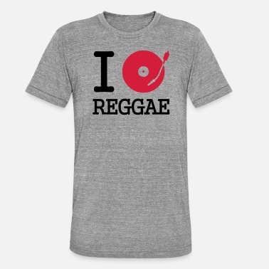 Club I dj / play / listen to reggae - Unisex Tri-Blend T-Shirt
