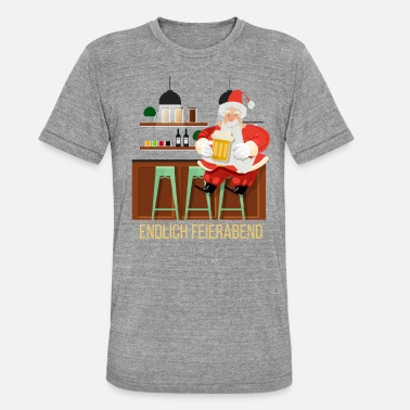 Bar Pub Santa closing time bar pub bar drinking beer - Unisex Tri-Blend T-Shirt by Bella & Canvas