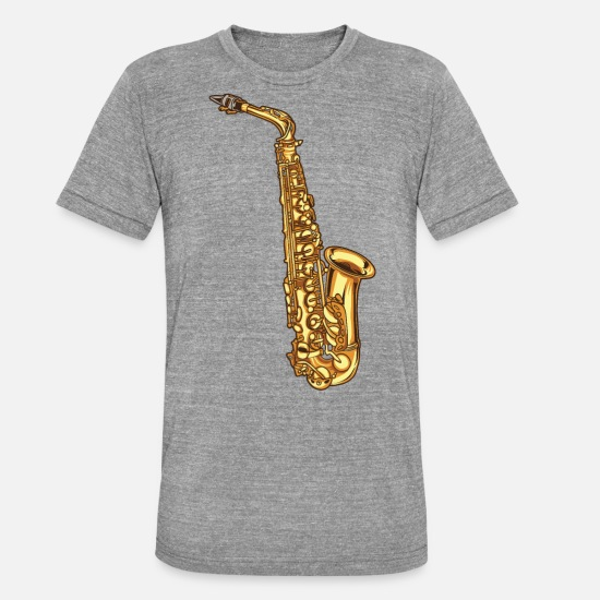 Saxeophonist T-Shirts - Saxophone saxophone - Unisex Tri-Blend T-Shirt heather grey