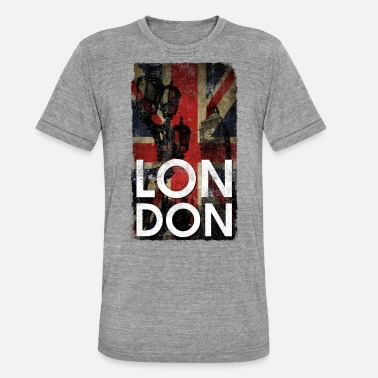 Uk Flag London flag grunge uk - Unisex Tri-Blend T-Shirt by Bella & Canvas