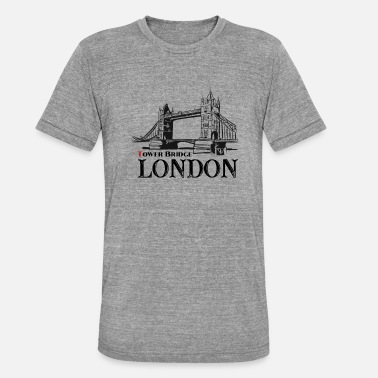 Tower Bridge London - Tower Bridge - Triblend-T-shirt unisex från Bella + Canvas