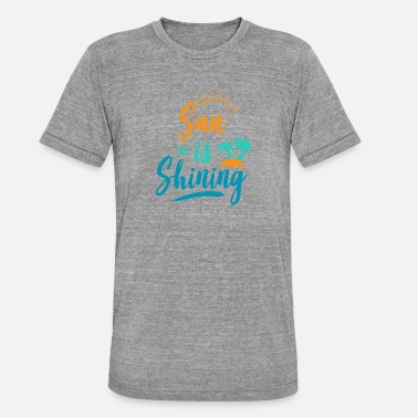 Summer, sun, beach, vacation, gift - Unisex Tri-Blend T-Shirt