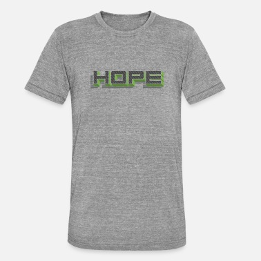 Font Retro 3D font Hope 003 - Unisex Tri-Blend T-Shirt