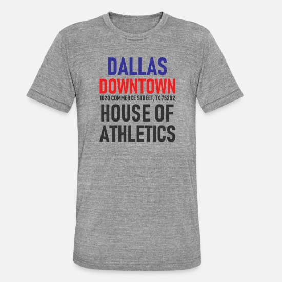 Geschenk T-Shirts - Dallas - Downtown - House of Athletics - Texas - Unisex T-Shirt meliert Grau meliert