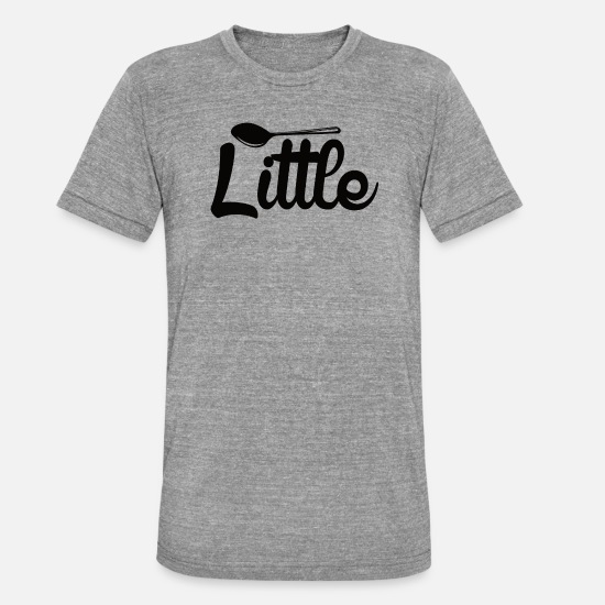 Spoon T-Shirts - small spoon - Unisex Tri-Blend T-Shirt heather grey
