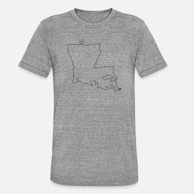 Louisiana LOUISIANA hart - Unisex tri-blend T-shirt van Bella + Canvas