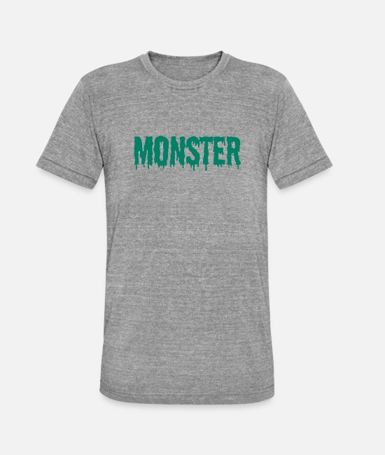 Horror T-shirts - Monster - Horror / Halloween-citaat - Unisex triblend T-shirt grijs gemêleerd