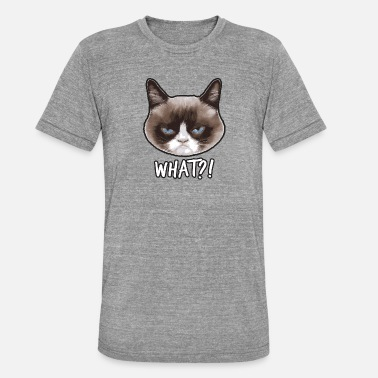 Grumpy Cat Grumpy Cat Quoi? - T-shirt chiné unisexe