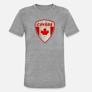 Montréal Drapeau du Canada Vintage Coat of Arms Vintage Retro / Gift - T-shirt chiné Bella + Canvas Unisexe