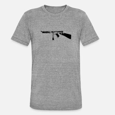 Machinepistool Thompson M1928 - Unisex tri-blend T-shirt van Bella + Canvas