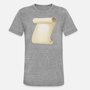 Pergament Pergament Rolle - Unisex Tri-Blend T-Shirt von Bella + Canvas
