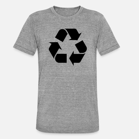 Enviromental T-Shirts - recycling - Unisex Tri-Blend T-Shirt heather grey