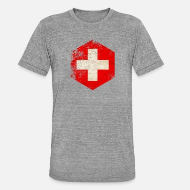 Sveitsi HEXAGON SWITZERLAND GRUNGE - Unisex triblend t-paita