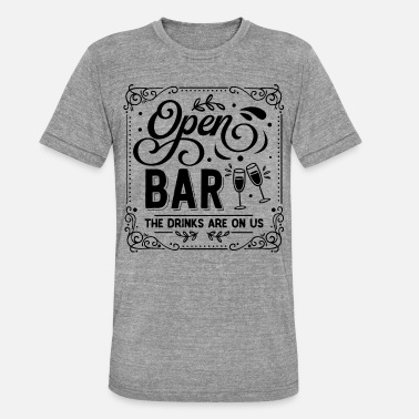 Us Open Open Bar - the drinks are on us - Unisex Tri-Blend T-Shirt