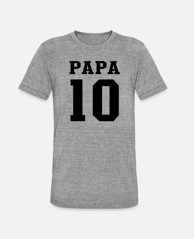 Papa 2010 T-Shirts - PAPA 2010 Football - Unisex Tri-Blend T-Shirt heather grey