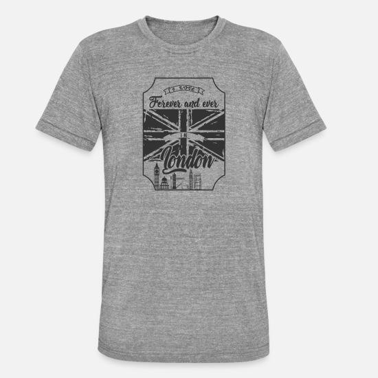 Love T-Shirts - London - Unisex Tri-Blend T-Shirt heather grey