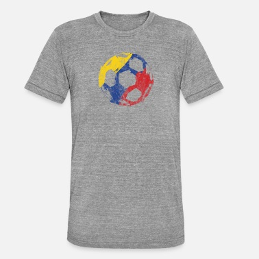 Foute Party Voetbal Voetbal Colombia Gift World Championship Party - Unisex tri-blend T-shirt van Bella + Canvas