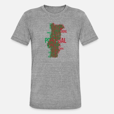 Portugal Portuguese Portugal Portuguese World Cup Soccer - Unisex Tri-Blend T-Shirt by Bella & Canvas