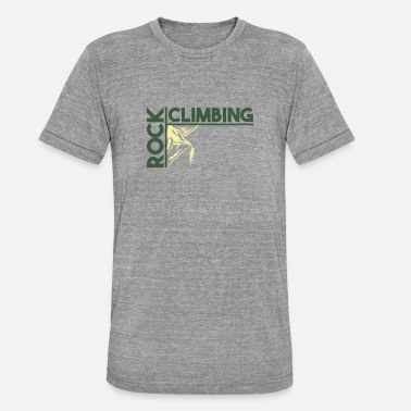 Ledge Rock Climbing - Unisex Tri-Blend T-Shirt by Bella & Canvas