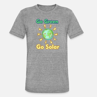 Contaminan Go Green, Go Solar - Camiseta Tri-Blend unisex de Bella + Canvas