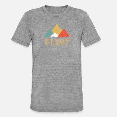 Flint Retro City of Flint Mountain Shirt - Unisex Tri-Blend T-Shirt
