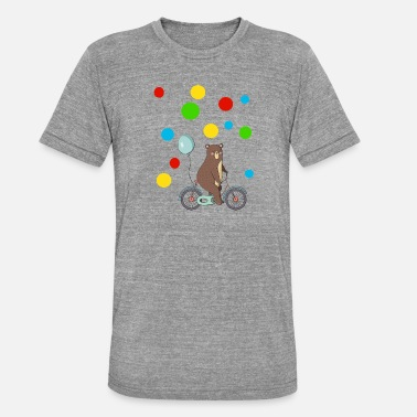 Bikes Spotty Day kids in distress points gift - Unisex Tri-Blend T-Shirt