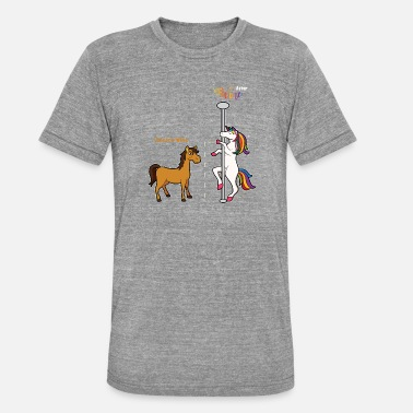 Funny wine unicorn alcohol sparkling wine gift red wine - Unisex Tri-Blend T-Shirt