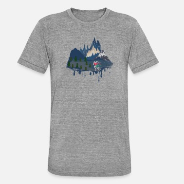 Mountain Running Mountain Running Sport Running Trail Mountains Nature Gift - Unisex Tri-Blend T-Shirt