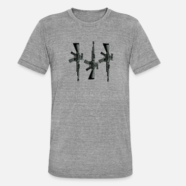 Submachine Gun Submachine gun firearm - Unisex Tri-Blend T-Shirt