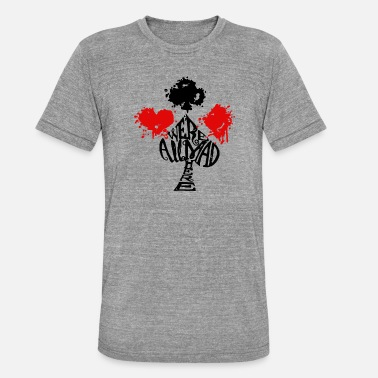 Mad Alice in Wonderland | Mad Hatter 4 Suits | Cards - Unisex Tri-Blend T-Shirt