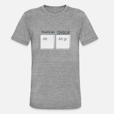 alt key gr not happy humor funny geek 1 o - Unisex Tri-Blend T-Shirt