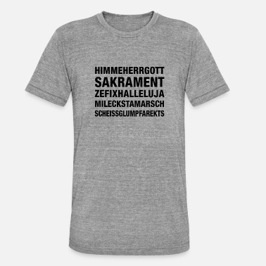 Glump Himmeherrgott - Unisex Tri-Blend T-Shirt von Bella + Canvas