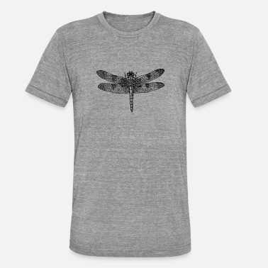 Insect Dragonfly dragonfly drawing insect outline retro - Unisex Tri-Blend T-Shirt