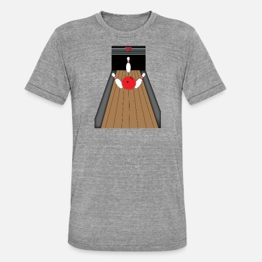 Bowling Alley The bowling alley - Unisex Tri-Blend T-Shirt