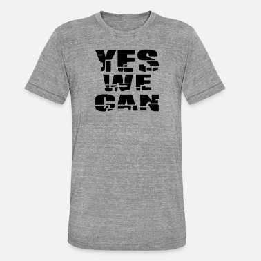 yes we can - Unisex T-Shirt meliert