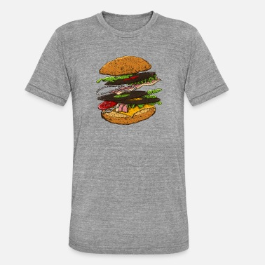 Hamburger - T-shirt chiné unisexe