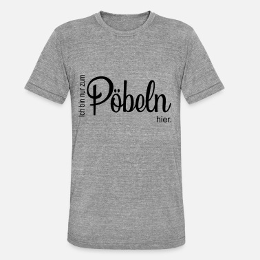 Brawl Mobbing, rowdy, humor, brawl, rioting - Unisex Tri-Blend T-Shirt by Bella & Canvas