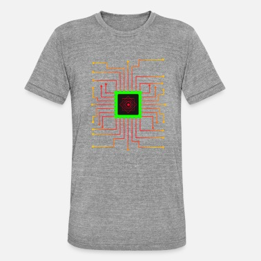 Network Microchip with leads Gift for networker - Unisex Tri-Blend T-Shirt