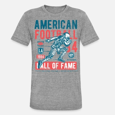 Hall Of Fame Football Hall of Fame - Sports Shirt Design - Unisex tri-blend T-skjorte fra Bella + Canvas