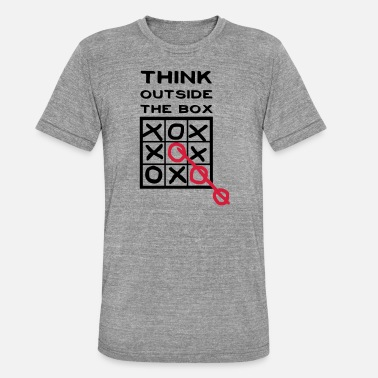 Box Think outside the Box - Triblend T-shirt unisex