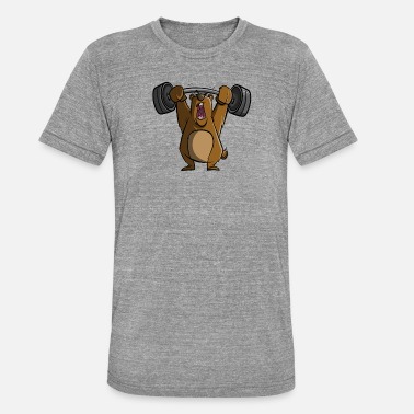 Gym Lift Gym bear lifting weights - Unisex Tri-Blend T-Shirt by Bella & Canvas