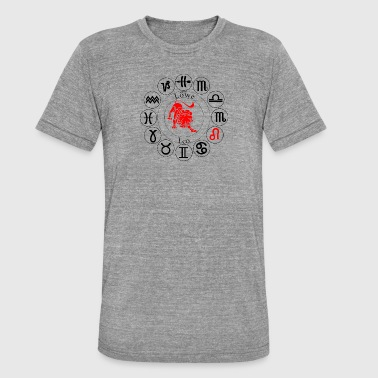astrological sign Leo - Unisex Tri-Blend T-Shirt by Bella & Canvas