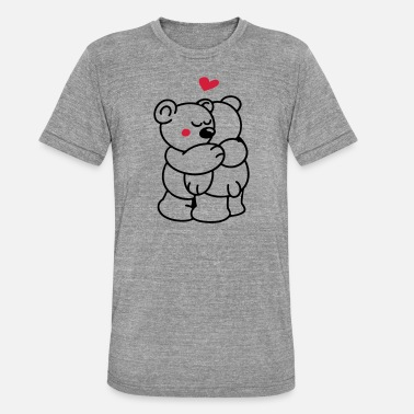 Teddy in love - Unisex Tri-Blend T-Shirt
